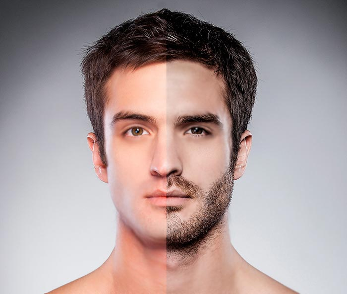 Beard, Mustache and Sideburns Reconstruction